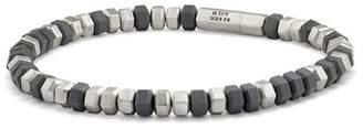 David Yurman Hex Bead Bracelet in Grey