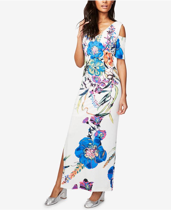 Rachel Rachel Roy Floral-Print Cold-Shoulder Maxi Dress