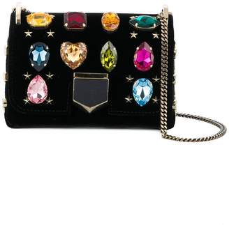 Jimmy Choo mini Lockett embellished shoulder bag