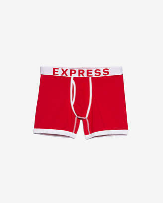 Express Red Contrast Trim Boxer Briefs