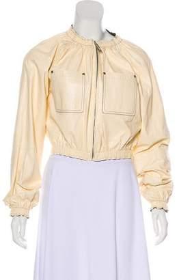 Celine Leather Zip-Up Jacket w/ Tags