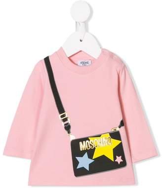 Moschino Kids handbag print tunic top