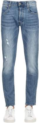 G Star G-Star 3301 Slim Distressed Denim Jeans