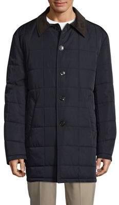 Lauren Ralph Lauren Quilted Corduroy Collar Coat