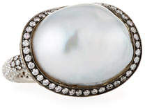 Assael Baroque Pearl & Diamond Ring