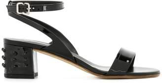 Tod's stud detail block-heel sandals