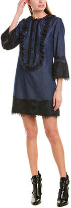 Anna Sui Denim & Lace Shift Dress
