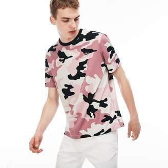 Lacoste Men's LIVE Crew Neck Camouflage T-Shirt