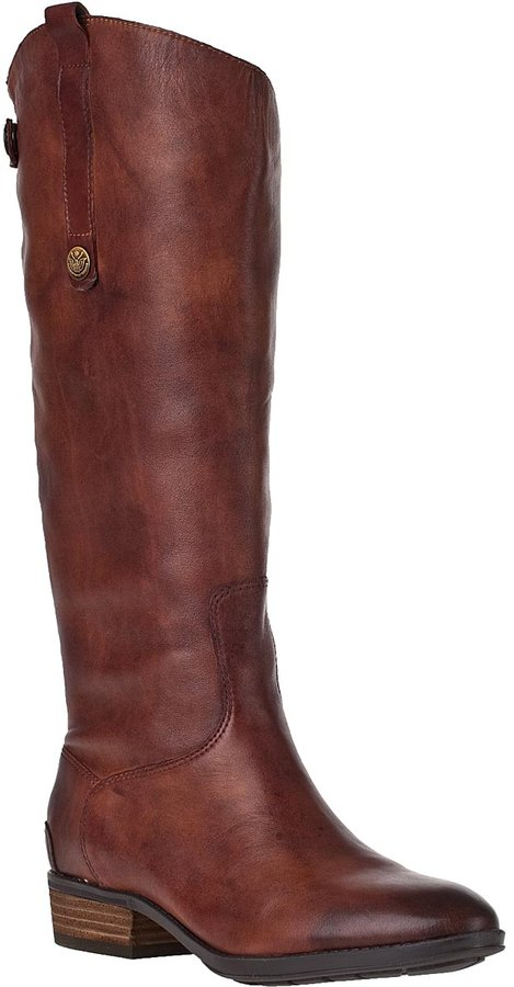 Sam Edelman Penny Riding Boot Olive Leather