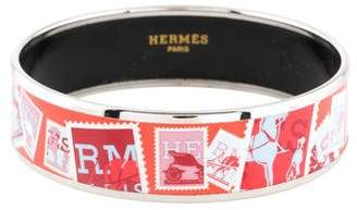 Hermes Wide Enamel Bangle
