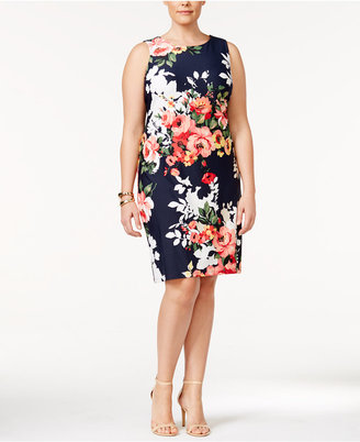 Charter Club Plus Size Floral-Print Shift Dress, Only at Macy's $99.50 thestylecure.com