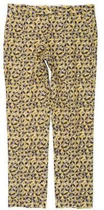 Marni Linen-Blend Floral Pants