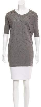 Markus Lupfer Embellished Short Sleeve Tunic