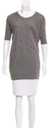 Markus Lupfer Embellished Short Sleeve Tunic