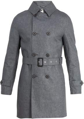 MACKINTOSH Double-breasted linen trench coat