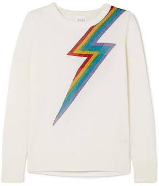 Madeleine Thompson Chianti Metallic Intarsia Cashmere Sweater - Cream