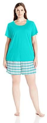 Jockey Women's Plus Size Knit Boxer Pajama Set