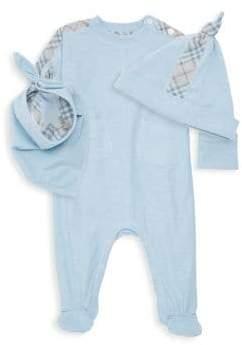 Burberry Baby Boy's Colboy Three-Piece Beanie, Bib& Footie Set