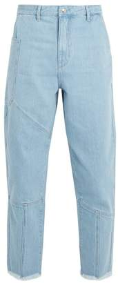 Marques Almeida Marques'almeida - Panelled Frayed Cuff Denim Jeans - Mens - Blue