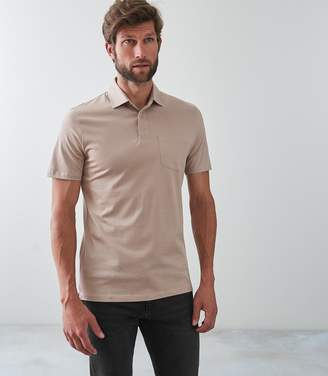 Reiss ELLIOT Mercerised Polo Shirt Sand