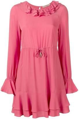 Twin-Set ruffle drawstring waist dress