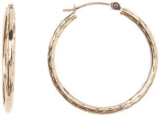 Candela 10K Yellow Gold Diamond Cut Hoop Earrings