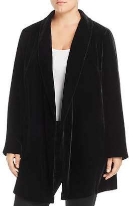 Lafayette 148 New York Plus Cecily Long Velvet Blazer