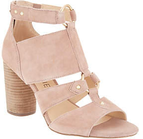Sole Society Cut-out Heeled Sandals -Sadey