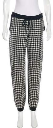 Mason Houndstooth High-Rise Pants
