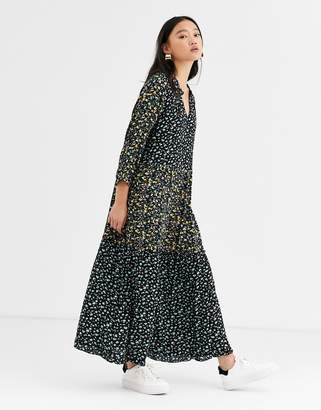 Only mix floral midi dress