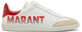 Isabel Marant Bryce Leather Low Top Trainers - Womens - Red White