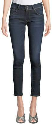 Hudson Collin Mid-Rise Cropped Skinny Jeans