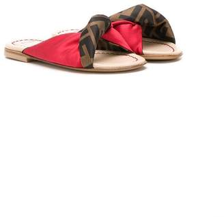 Fendi FF twist strap sandals