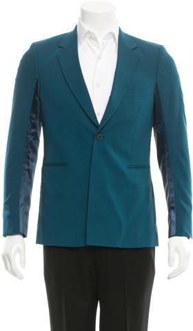 Paul SmithPaul Smith Satin-Contrast Wool Blazer