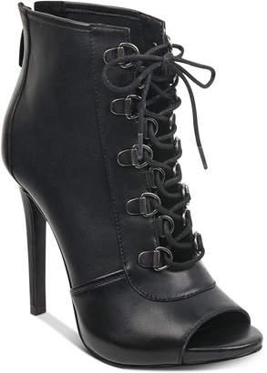 GUESS Women Alysa Peep Toe Booties Women Shoes