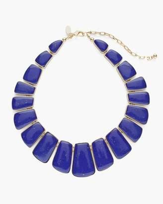 Blue-White Reversible Bib Necklace