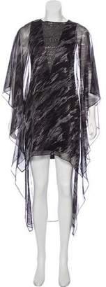 Halston Embellished Midi Dress