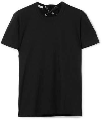 Noir Kei Ninomiya Moncler Genius - 6 Lace-up Cotton-jersey T-shirt - Black