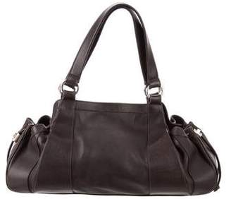Oscar de la Renta Leather Drawstring Tote