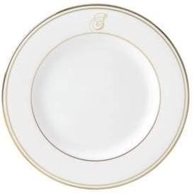 Lenox Federal Gold Monogrammed Script Salad Plate