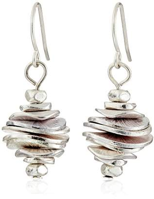 Kenneth Cole New York Tone Stacked Disc Drop Earrings