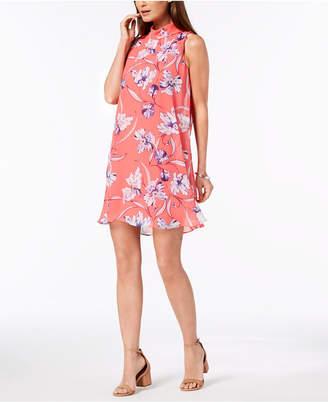 Jessica Howard Petite Floral Mock-Neck Dress
