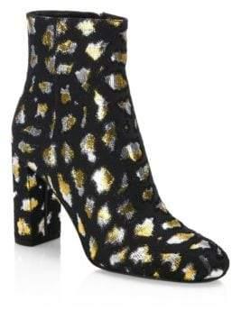 Saint Laurent Loulou Leopard Ankle Boots