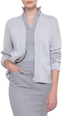Akris Long-Sleeve Zip-Front Cashmere Cardigan