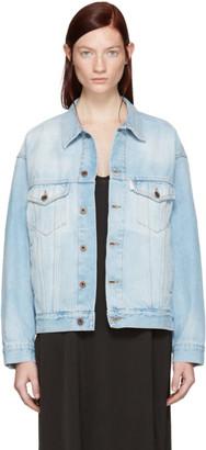 Off-White Blue Denim Over Jacket $740 thestylecure.com