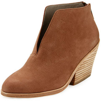 Eileen Fisher Nelson Split-Front Leather Bootie $250 thestylecure.com