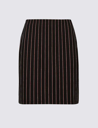 Marks and Spencer Striped Jersey A-Line Mini Skirt