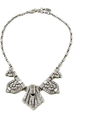 Ben-Amun Jewelry Crystal Deco Triangle Pendant Necklace for Bridal Wedding Anniversary