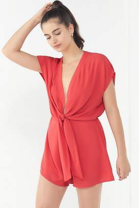 Urban Outfitters Plunging Tie-Front Romper