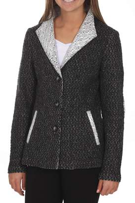 Katherine Barclay Grey Woven Jacket